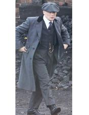 Priced Black Single Breasted Three Button Peaky Blinders Suits