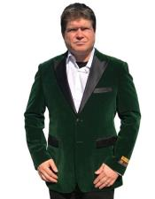 AlbertoNardoniBrandOliveGreenVelvetTuxedovelourBlazerJacket