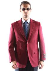 Burgundy Notch Lapel Big and Tall