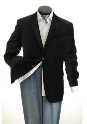 Big And Tall Mens Black Blazers