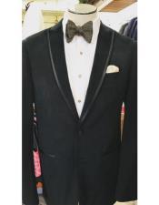 Velvet Trim Wedding ~ Prom ~ Fancy Tuxedo velour