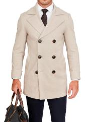 Tan Big and Tall Peacoat Perfect For Wedding and