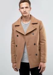 Camel Big and Tall Discounted Peacoat