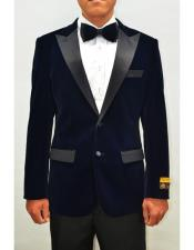 Navy Imported Tuxedo Perfect For Wedding and Prom Perfect