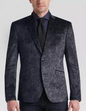Mens Gray Modern Stylish Velvet Fabric