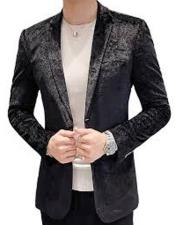 Classy and Elegant Paisley Black Velvet Jacket