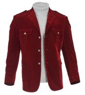 Burgundy 3 Button Safari Pockets Cheap Priced Jacket