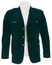 Green Regular Fit Discounted Jacket for Men