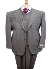 Gray Peak Lapel Two Flap Front