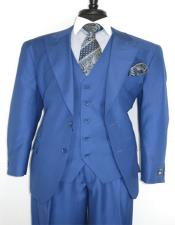 Peak Lapel Ticket Pocket Suit for Men