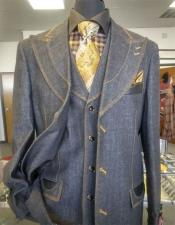 Gray Three Button Single Breasted Suit