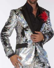 Edition Pre order Feb/30/2020 Mens Sequin Suits Silver Perfect