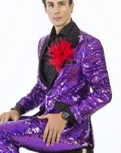 Edition Pre order Feb/30/2020 Mens Sequin Suits Violet Perfect