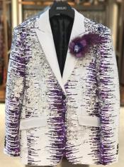 Edition Pre order Feb/30/2020 Mens Sequin Suits White and