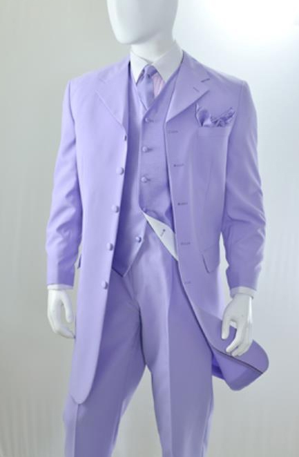 ~ Lilac Vested 3 Piece Fashion Zoot Suit