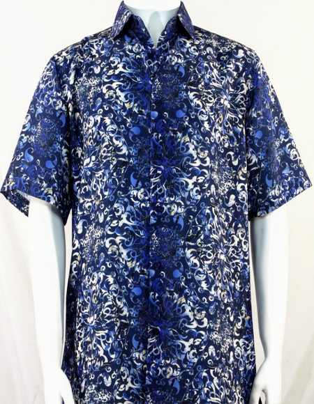 Royal Pattern Short Sleeve Camp Shirt 3998