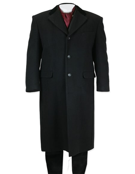 Full Length Topcoat in Black
