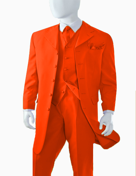 Orange Discounted Cheap Priced Zoot Suit