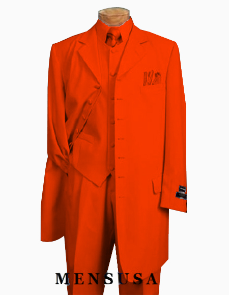 Edition Mens Orange Zoot Suit
