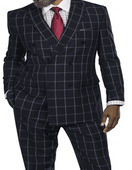 Vents in Back Full Lined Jacket for Mens Plaid