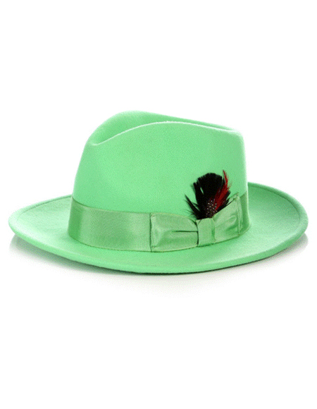 Fedora Hat in Green