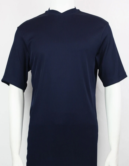 Navy Bassiri Short Sleeve Shirts
