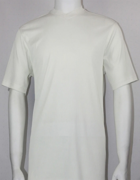 Short Sleeve Ivory Shirts for Men