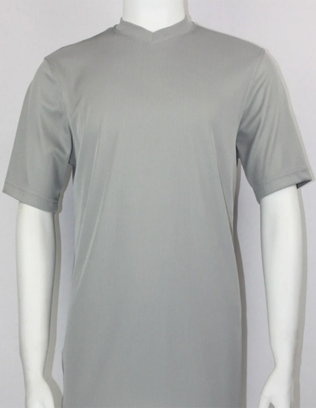 Grey Bassiri Short Sleeve Shirts