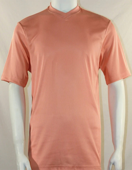 Bassiri Short Sleeve Peach Shirts
