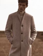 Wool Epson Overcoat Oatmeal