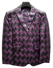 Fashion Suit Jacket and Pants Purple