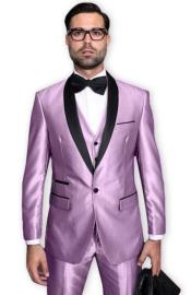 Tuxedo Shawl Collar Vested Jacket & Pants 3 Piece