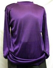 Mens Purple Pronti Shiny Long Sleeve