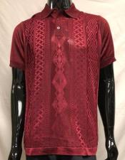 Burgundy Polo Shirts for Men