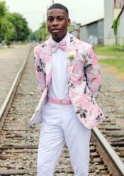 Pink Shawl Lapel Prom / Wedding