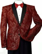 T816 Mens Shiny Sequins Slim Blazer