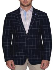 Navy Plaid Sportcoat