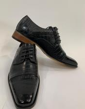 Black Two Toned Dress Shoes for