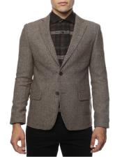 Mens Brown Super Slim Fit Two