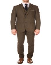 Modern Patterned Lining Imported British Tweed Fabric Blazer