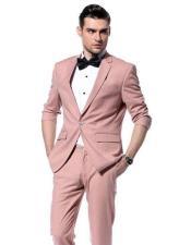 Pink 4 Inside pockets 2-button Suit
