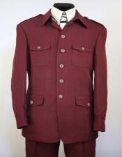 High Collar Suits With Safari Pocket