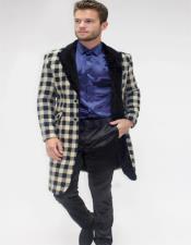 Black Three Quarter Overcoat Perfect For Wedding