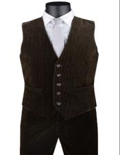 Pants + Matching Vest Package Set + Brown