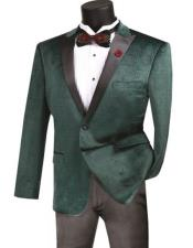 Mens Emerald One Button Single Breasted