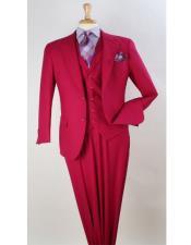 Classic Fit Notch Lapel Plaid 100% Wool Fabric 1940s