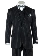 Classic Fit Suit Peak Lapel Double