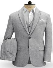 Notch Lapel Two Welted Back Pockets on Trousers