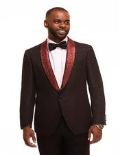 RedSingleBreastedFashionProm-WeddingSuits&Tuxedo