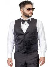 Slim Fit Velvet Modern Dress Vest for Men -